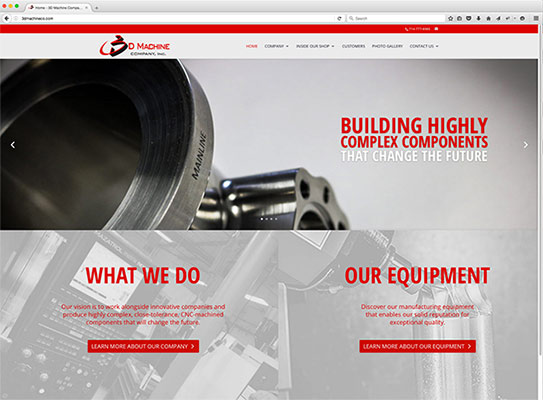 3D Machine Company Web Design Project