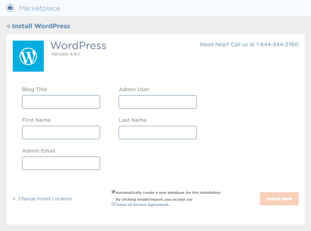 HostGator WordPress Setup Step 6